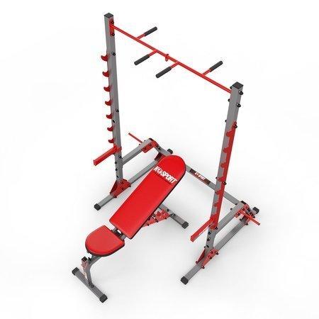 stojak treningowy KSSL023 + lawka dwustronniee egulowana