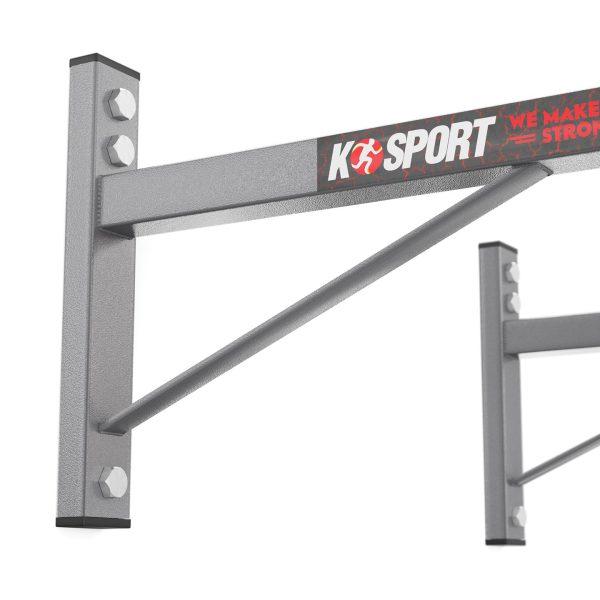 Bezpieczny sprzęt sportowy-Drążek treningowy do ćwiczeń podciągania ścienny+ uchwyt na worek KSH002/SK_VEELES.com1