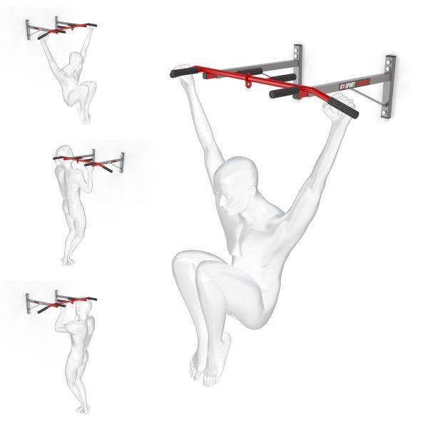 Bezpieczny sprzęt sportowy-Drążek treningowy do ćwiczeń podciągania ścienny+ uchwyt na worek KSH002/SK_VEELES.com