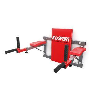 Bezpieczny sprzęt sportowy-Poręcz treningowa do ćwiczeń mięśni brzucha ścienna KSH004/SK_VEELES.com2