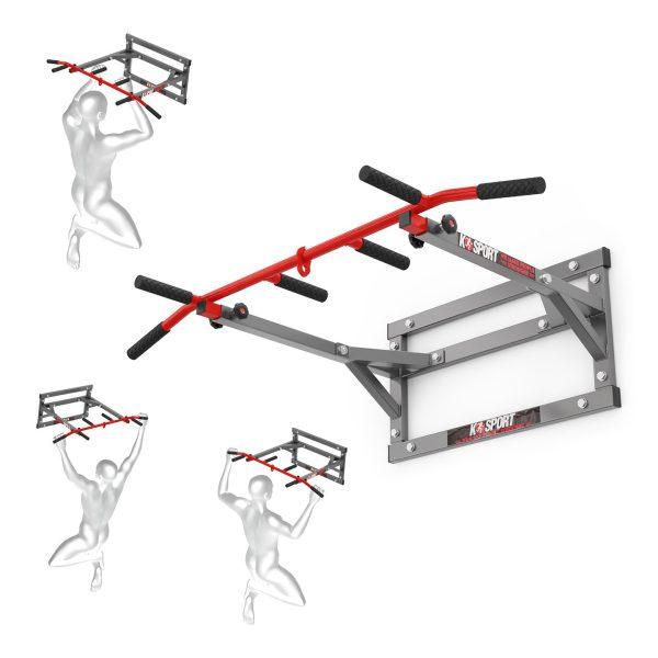 Bezpieczny sprzęt sportowy-Drążek treningowy do ćwiczeń podciąganiaścienny KSH011/SK X-MAX_VEELES.com
