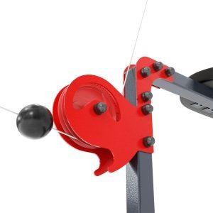 Bezpieczny sprzęt sportowy-Wyciąg treningowy atlas górny+dolny+drążek do ćwiczeń ścienny z siedziskiem KSSL017_VEELES.com1