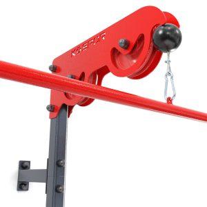Bezpieczny sprzęt sportowy-Wyciąg treningowy atlas górny+dolny+drążek do ćwiczeń ścienny z siedziskiem KSSL017_VEELES.com3