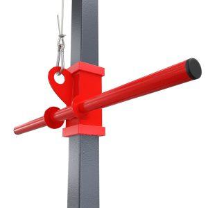 Bezpieczny sprzęt sportowy-Wyciąg treningowy atlas górny+dolny+drążek do ćwiczeń ścienny z siedziskiem KSSL017_VEELES.com4