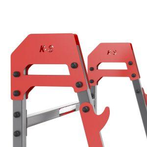 Bezpieczny sprzęt sportowy-Stojaki treningowe do ćwiczeń pod sztangę ławkę z asekuracją KSSL018_VEELES.com4