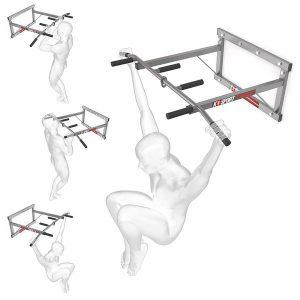 Bezpieczny sprzęt sportowy-Drążek treningowy do ćwiczeń podciągania ścienny+uchwyt na worek KSH001_VEELES.com