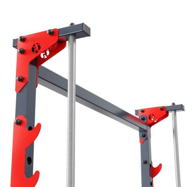 Bezpieczny sprzęt sportowy-Suwnica Smitha-maszyna treningowa  pod ławkę KSSL022_VEELES.com2