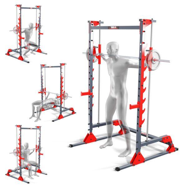 Bezpieczny sprzęt sportowy-Suwnica Smitha-maszyna treningowa  pod ławkę KSSL022_VEELES.com