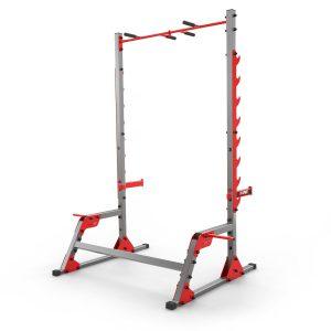 Bezpieczny sprzęt sportowy-Stojak treningowy do ćwiczeń pod sztangę ławkę z asekuracją+drążek KSSL023_VEELES.com3