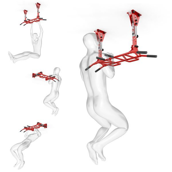 Bezpieczny sprzęt sportowy-Drązek treningowy do ćwiczeń podciągania drabinka ściana/sufit MONKEYBAR KSSL040_VEELES.com