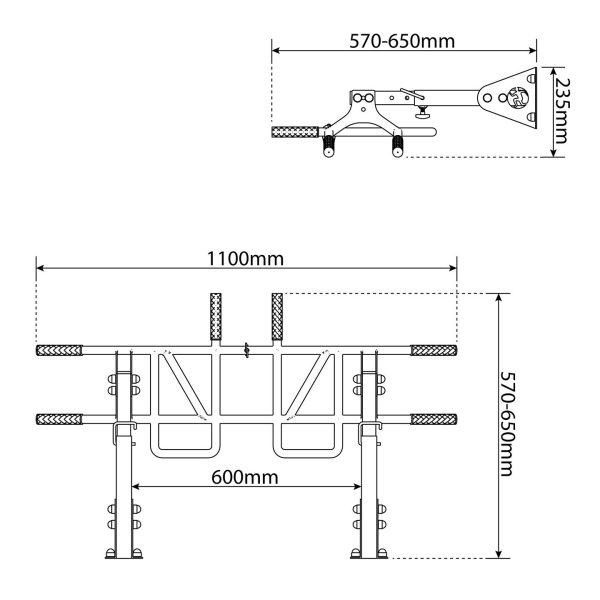 Bezpieczny sprzęt sportowy-Drązek treningowy do ćwiczeń podciągania drabinka ściana/sufit MONKEYBAR KSSL040_VEELES.com1