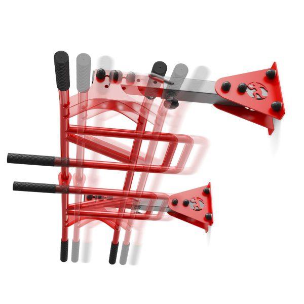 Bezpieczny sprzęt sportowy-Drązek treningowy do ćwiczeń podciągania drabinka ściana/sufit MONKEYBAR KSSL040_VEELES.com4