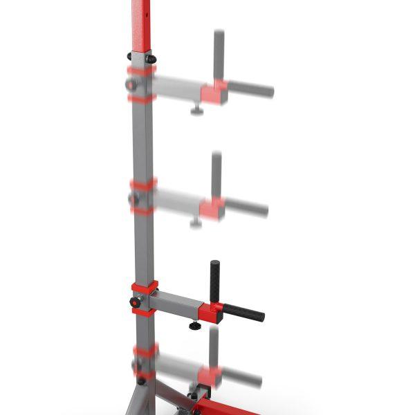 Bezpieczny sprzęt sportowy-Drążek treningowy do podciągania stacjonarny do ćwiczeń+poręcz KSSL060/DIP_VEELES.com2