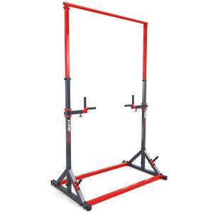 Bezpieczny sprzęt sportowy-Drążek treningowy do podciągania stacjonarny do ćwiczeń+poręcz KSSL060/DIP_VEELES.com