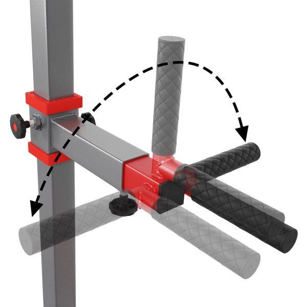 Bezpieczny sprzęt sportowy-Drążek treningowy do podciągania stacjonarny do ćwiczeń+poręcz KSSL060/DIP_VEELES.com4