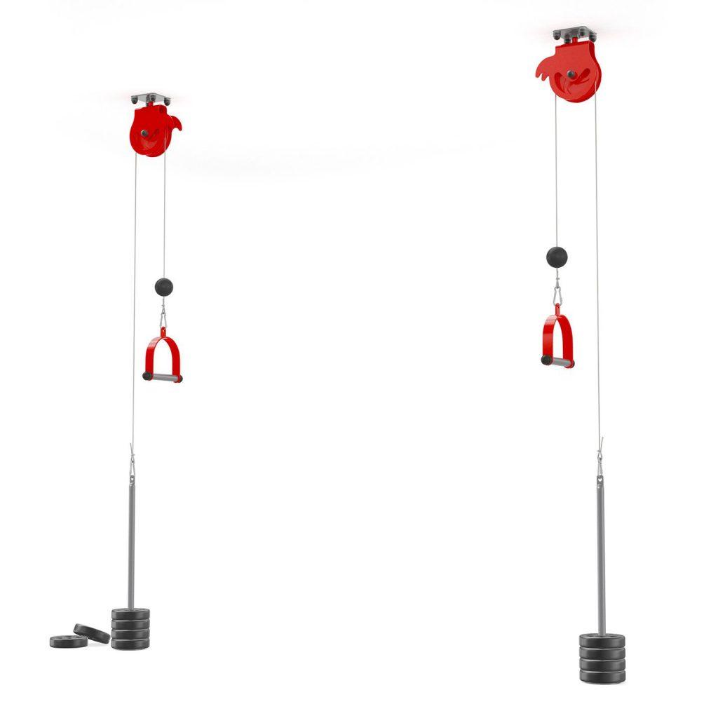 Bezpieczny sprzęt sportowy-Brama treningowa 2xwyciąg do sufitu atlas obrotowy bramowy  KSSL055_VEELES.com2