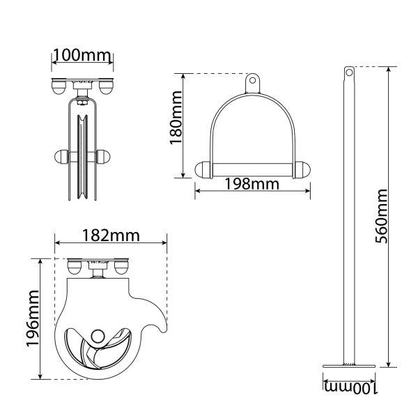 Bezpieczny sprzęt sportowy-Brama treningowa 2xwyciąg do sufitu atlas obrotowy bramowy  KSSL055_VEELES.com3