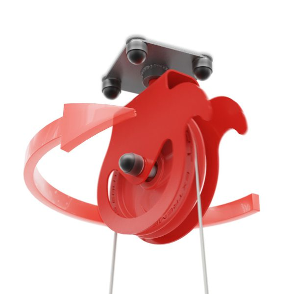 Bezpieczny sprzęt sportowy-Brama treningowa 2xwyciąg do sufitu atlas obrotowy bramowy  KSSL055_VEELES.com4