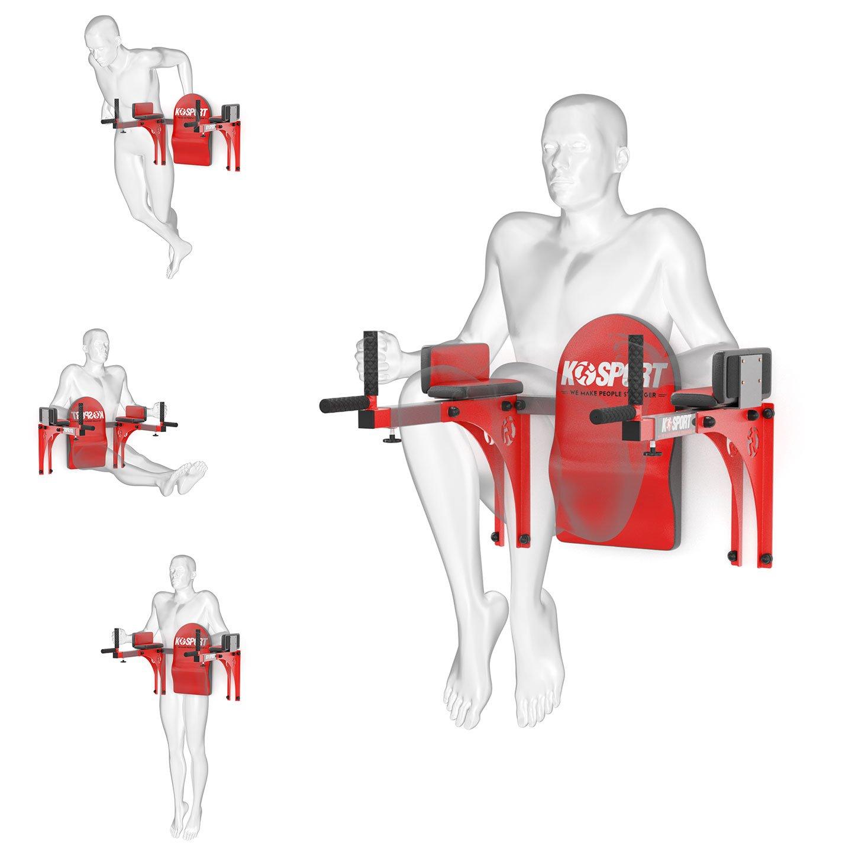 Bezpieczny sprzęt sportowy-Regulowane poręcze treningowe do ćwiczeń mięśni brzucha DIP KSSL015_VEELES.com