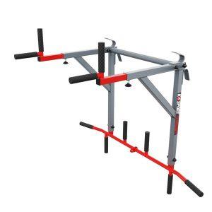 Bezpieczny sprzęt sportowy-Drążek do ćwiczeń podciągania+poręcze na drabinkę uniwersalny 2W1 KSSL080_VEELES.com2