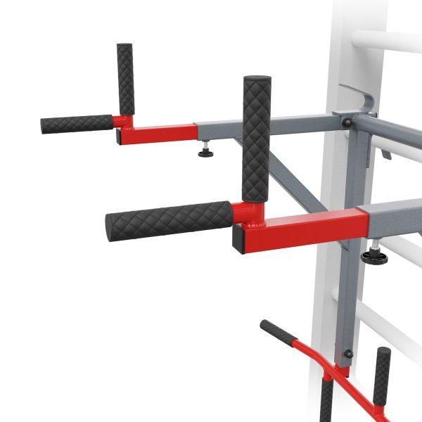 Bezpieczny sprzęt sportowy-Drążek do ćwiczeń podciągania+poręcze na drabinkę uniwersalny 2W1 KSSL080_VEELES.com1