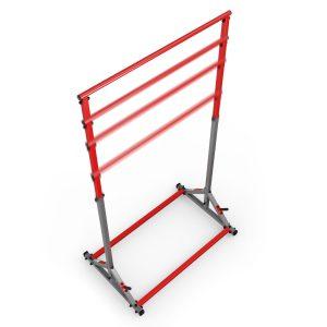 Bezpieczny sprzęt sportowy-Drążek stacjonarny treningowy poręcz do ćwiczeń podciągania 280kg - KSSL060_VEELES.com1