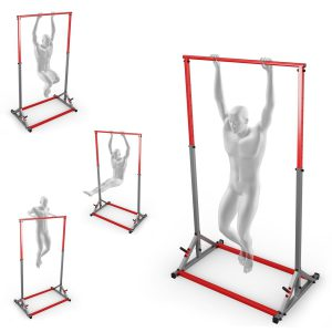 Bezpieczny sprzęt sportowy-Drążek stacjonarny treningowy poręcz do ćwiczeń podciągania 280kg - KSSL060_VEELES.com3