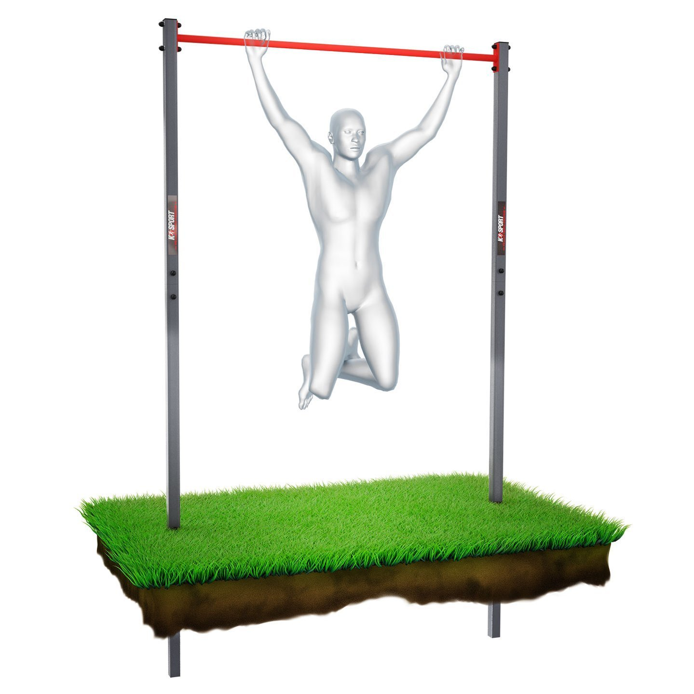 Bezpieczny sprzęt sportowy-Drązek do ćwiczeń podciągania zewnętrzny OGRODOWY street workout KSOZ001_VEELES.com
