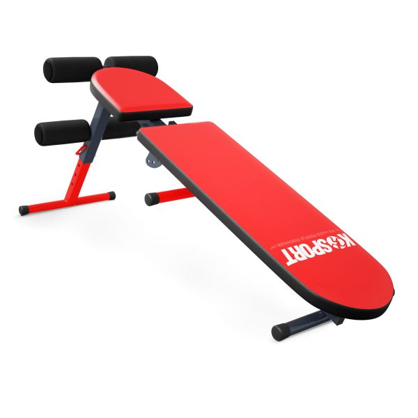 Bezpieczny sprzęt sportowy-Ławka do ćwiczeń brzuszków skośna regulowana składana KSSL024_VEELES.com3