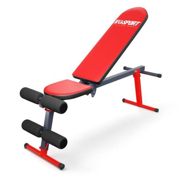 Bezpieczny sprzęt sportowy-Ławka do ćwiczeń brzuszków skośna regulowana składana KSSL024_VEELES.com4