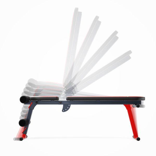 Bezpieczny sprzęt sportowy-Ławka do ćwiczeń brzuszków skośna regulowana składana KSSL024_VEELES.com1