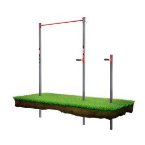 Bezpieczny sprzęt sportowy-Drążek+poręcze do podciągania zewnętrzny ogrodowy-uchwyt na worek street workout  KSOZ002_VEELES.com3