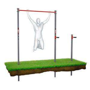 Bezpieczny sprzęt sportowy-Drążek+poręcze do podciągania zewnętrzny ogrodowy-uchwyt na worek street workout  KSOZ002_VEELES.com