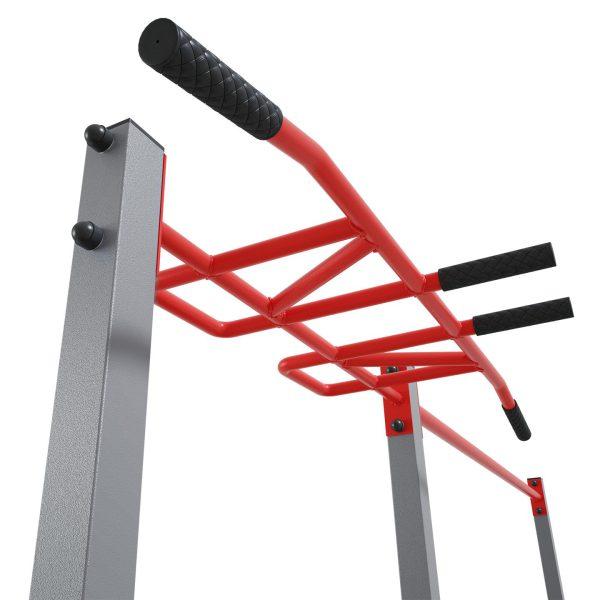 Bezpieczny sprzęt sportowy-Drążek ogrodowy stacjonarny zewnętrzny + poręcze drabinką MONKEYBAR-street workout  KSOZ005_VEELES.com1