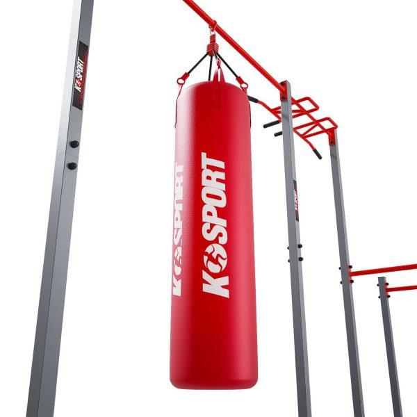 Bezpieczny sprzęt sportowy-Drążek ogrodowy stacjonarny zewnętrzny + poręcze drabinką MONKEYBAR-street workout  KSOZ005_VEELES.com3