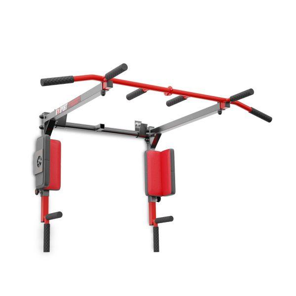 Bezpieczny sprzęt sportowy-Drążek do podciągania ćwiczeń poręcz na ścianę 2W1 KSSL081/2_VEELES.com4