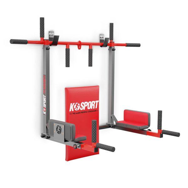Bezpieczny sprzęt sportowy-Drążek do podciągania ćwiczeń poręcz na ścianę 2W1 KSSL081/2_VEELES.com2