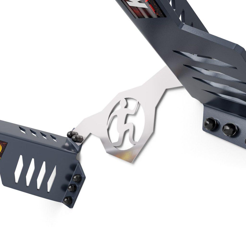 Bezpieczny sprzęt sportowy-DRĄŻEK TRENINGOWY DO ĆWICZEŃ PODCIĄGANIA+UCHWYT NA WOREK seria GOLD KSG001_VEELES.com1