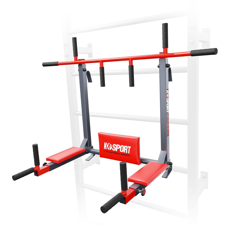 Bezpieczny sprzęt sportowy-DRĄŻEK+PORĘCZ do ćwiczeń podciągania na drabinkę 2W1 KSSL080/3_VEELES.com2