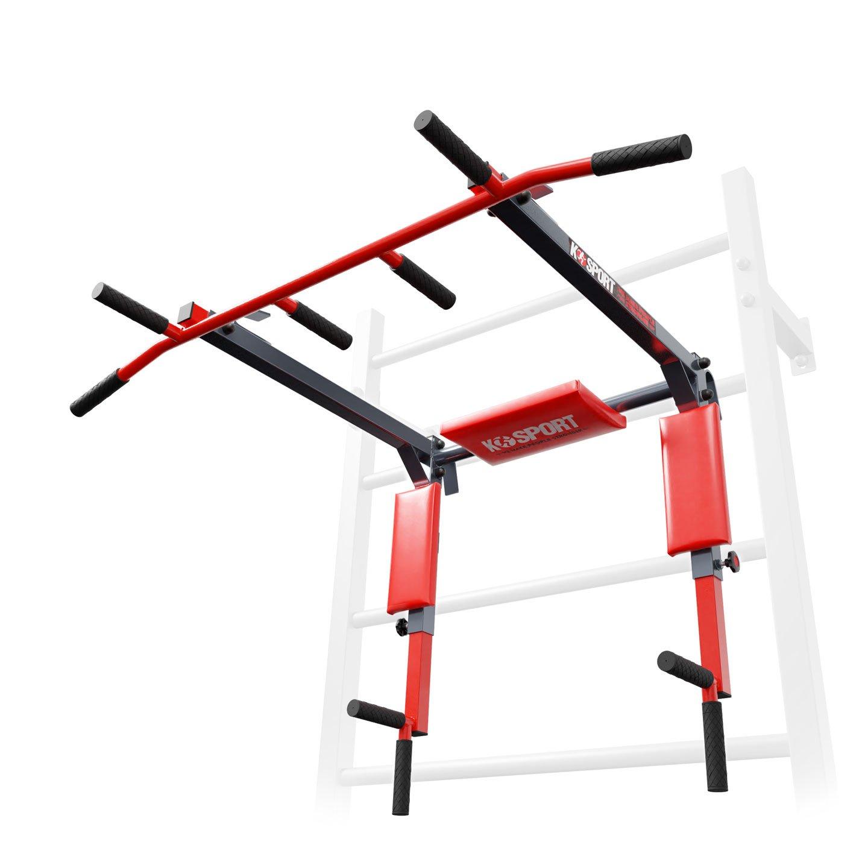 Bezpieczny sprzęt sportowy-DRĄŻEK+PORĘCZ do ćwiczeń podciągania na drabinkę 2W1 KSSL080/3_VEELES.com1