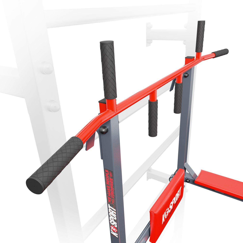 Bezpieczny sprzęt sportowy-DRĄŻEK+PORĘCZ do ćwiczeń podciągania na drabinkę 2W1 KSSL080/3_VEELES.com3