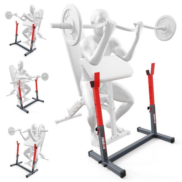 Bezpieczny sprzęt sportowy-Stojak treningowy do ćwiczeń pod ławkę sztangę gryf modlitewnik  KSH016_VEELES.com